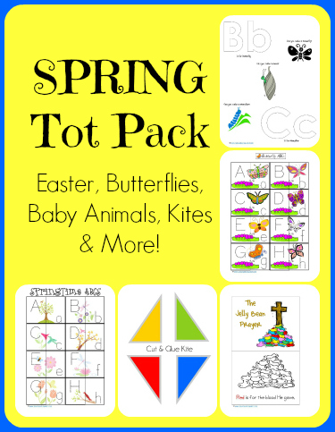 Spring Time Tot Pack...Easter, Butterflies, Kites and Baby Animals