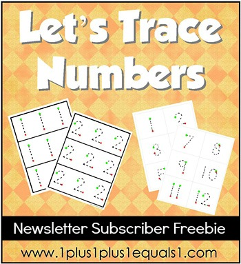 Let's Trace Numbers Freebie