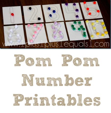 Pom Pom Number Printables