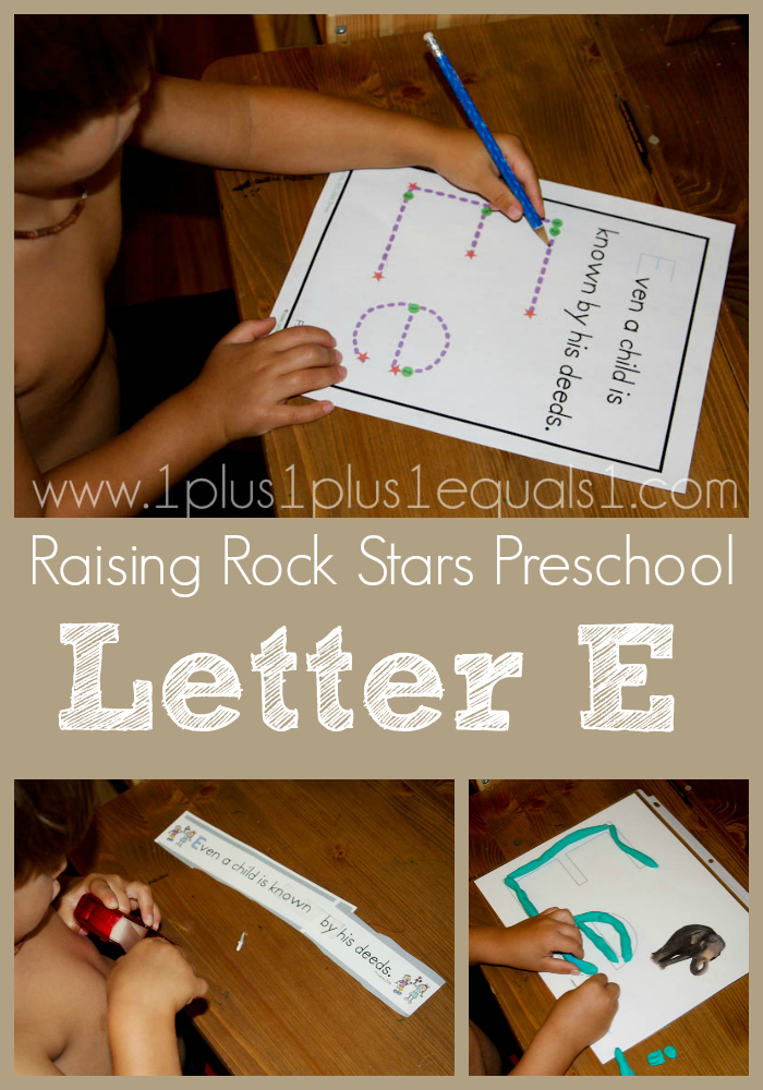 Raising Rock Stars Preschool Letter E
