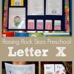 Raising Rock Stars Preschool Letter X
