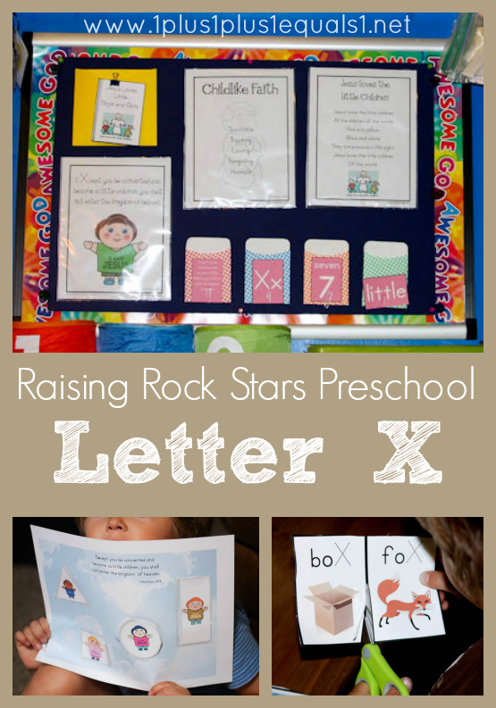 Raising Rock Stars Preschool Letter X