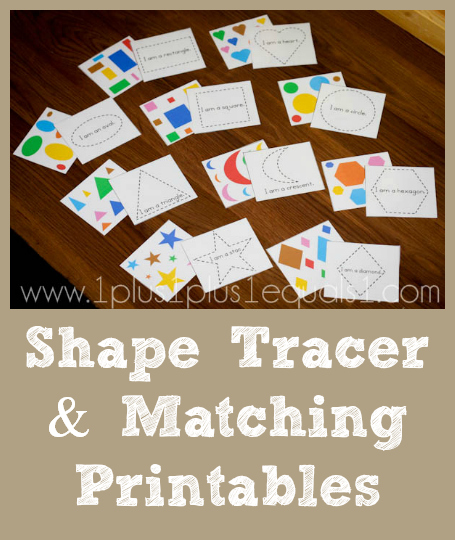 Shape Tracer and Matching Printables