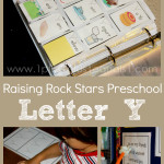 Raising Rock Stars Preschool Letter Y