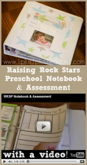 Raising Rock Stars Preschool Notebook and Assessment