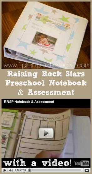Raising Rock Stars Preschool Notebook and Assessment