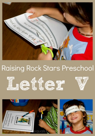 Raising Rock Stars Preschool letter V
