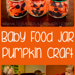 Baby Food Jar Pumpkin Craft