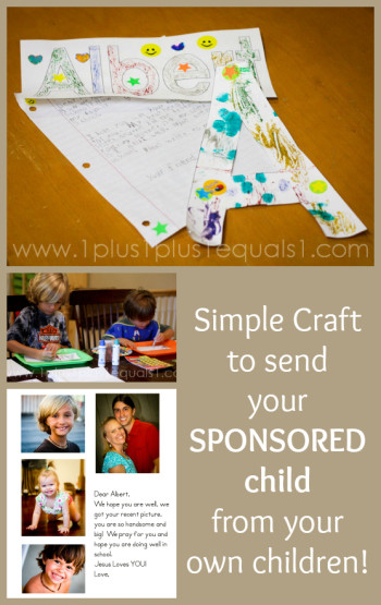 Craft to send Sponsored Child