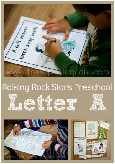 Raising Rock Stars Preschool Letter A