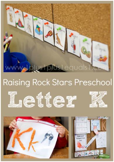 Raising Rock Stars Preschool Letter K
