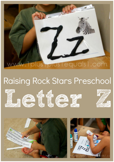 Raising Rock Stars Preschool Letter Z