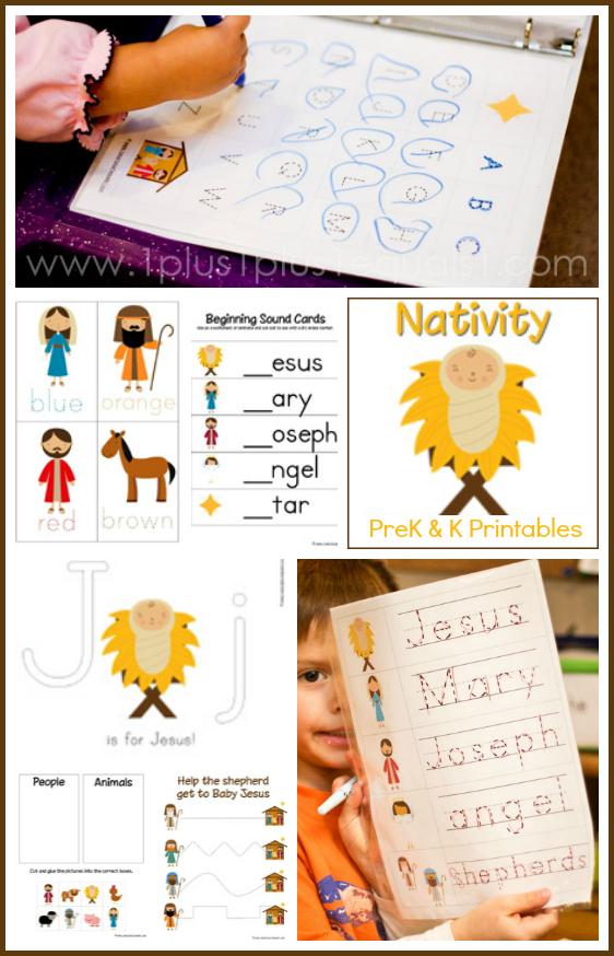 Nativity preschool pack 1 1 1 1 for 1 plus 1 equals window