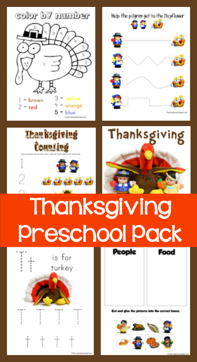 Thanksgiving preschool pack 1 1 1 1 for 1 plus 1 equals window