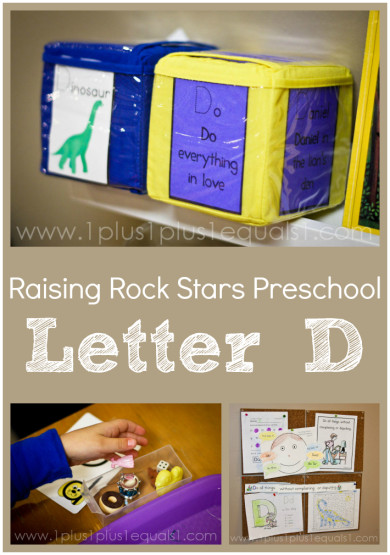 Raising Rock Stars Preschool Letter D