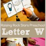 Raising Rock Stars Preschool Letter W