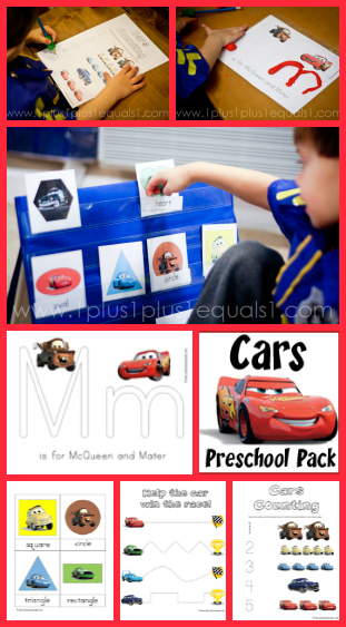 Cars Preschool Printable Pack