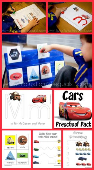 Cars Preschool Printable Pack