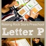 Raising Rock Stars Preschool Letter P