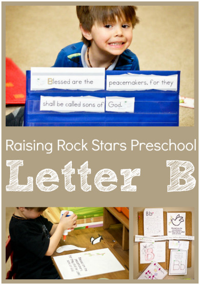 Raising Rock Stars Preschool letter B