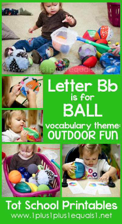 Tot School Printables B is for Ball