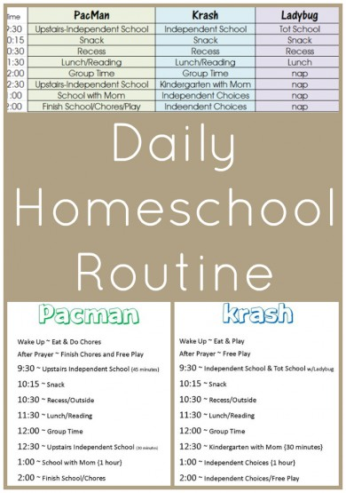 Daily Homeschool Routine