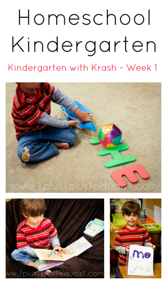 Homeschool Kindergarten Week 1