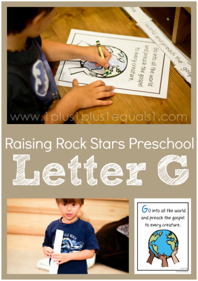 Raising Rock Stars Preschool Letter G