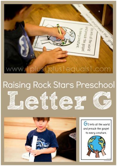 Raising Rock Stars Preschool Letter G