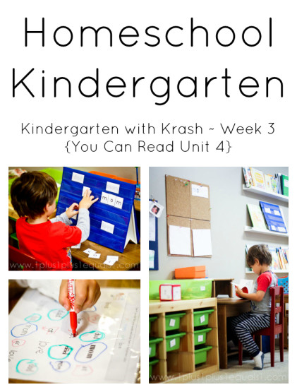 Homeschool Kindergarten Week 3