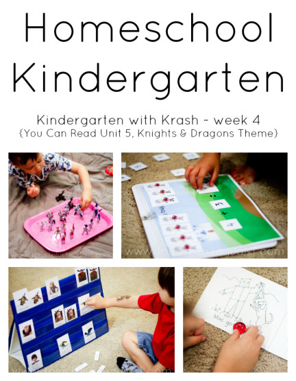 Homeschool Kindergarten Week 4 Knights Theme