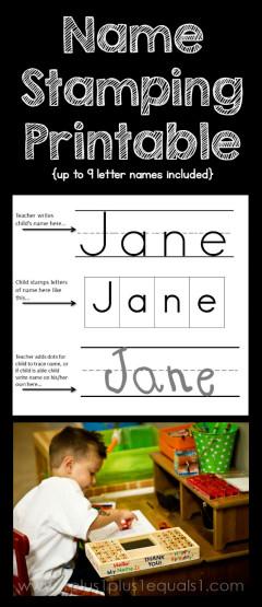 Name Stamping Printable