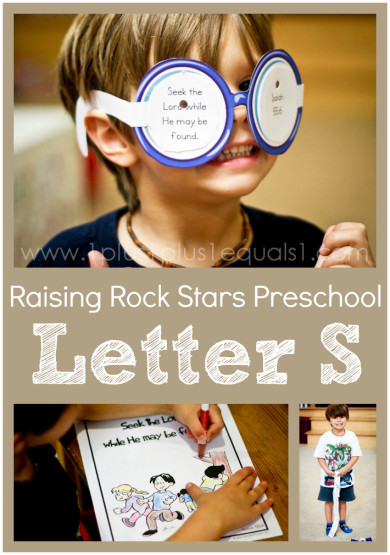 Raising Rock Stars Preschool Letter S