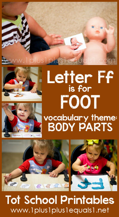 Tot School Printables F is for Foot