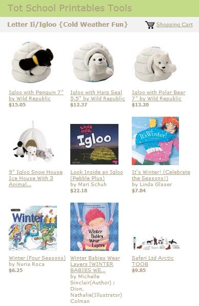 Tot School Printables Toys and Books Letter I