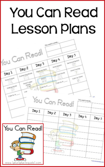 You Can Read Lesson Plans