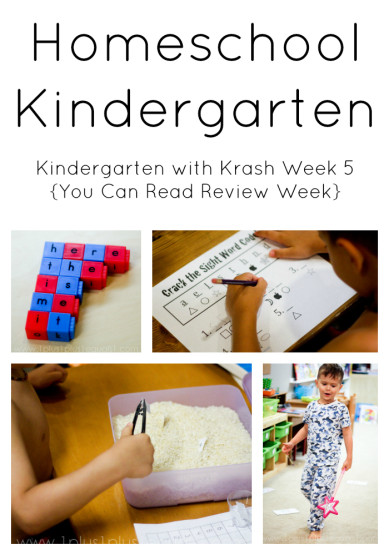 Homeschool Kindergarten Week 5
