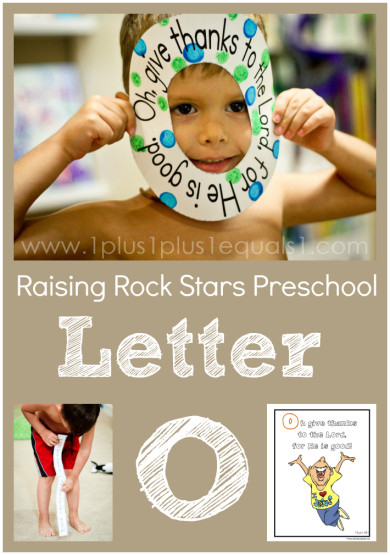 Raising Rock Stars Preschool Letter O
