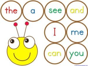 Sight Word Caterpillar