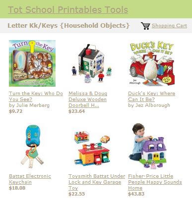 Tot School Printables Toys and Books Letter K