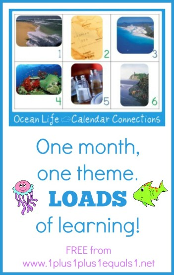 Ocean Theme Calendar Conncections