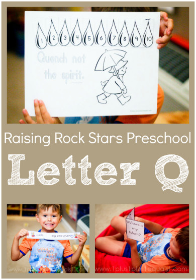 Raising Rock Stars Preschool Letter Q