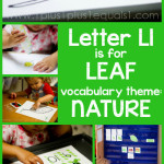 Tot School Printables L is for Leaf