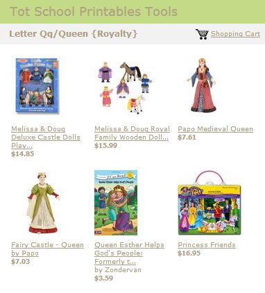 Tot School Printables Toys and Books Letter Q
