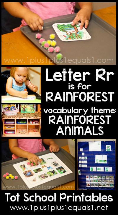Tot School Printables R is for Rainforest