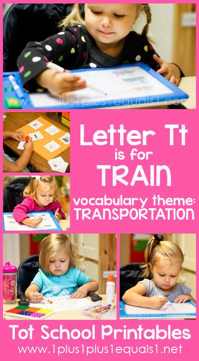 Printable Toys For Tots Train : Tot school letter tt