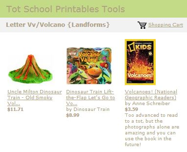 Tot School Printables Toys and Books Letter V