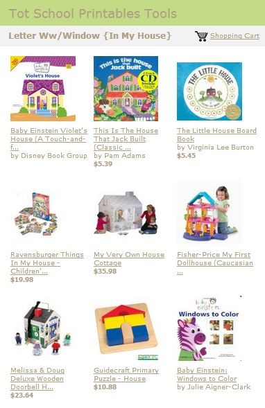 Tot School Printables Toys and Books Letter W