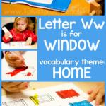 Tot School Printables W is for Window