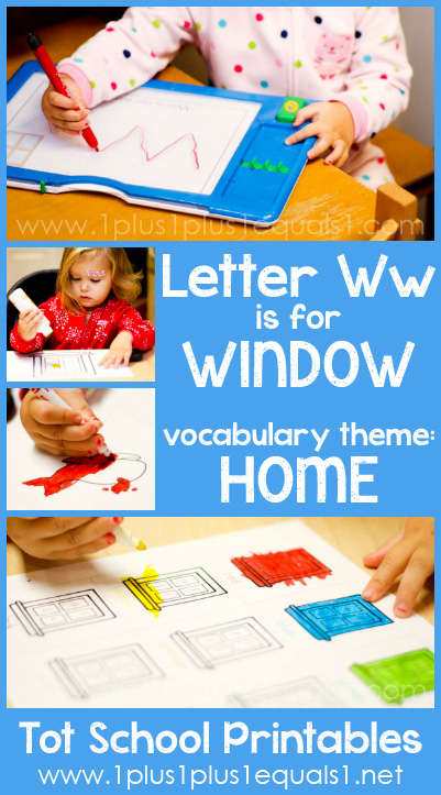 Tot School Printables W is for Window